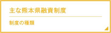 主な熊本県融資制度 制度の種類