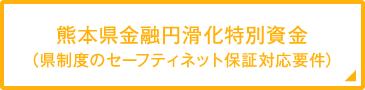 熊本県金融円滑化特別資金(県制度のセーフティネット保証対応要件)