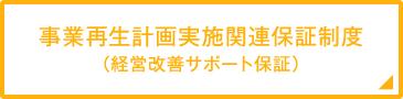 事業再生計画実施関連保証制度(経営改善サポート保証)